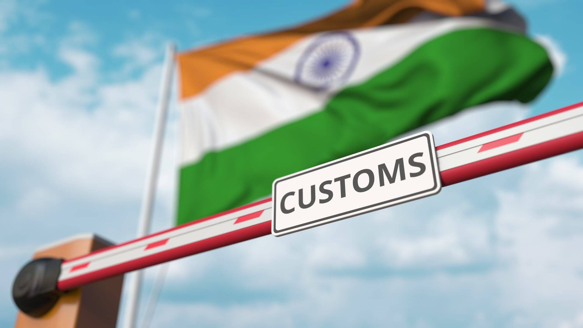 What Percentage is the Customs Tax in India?