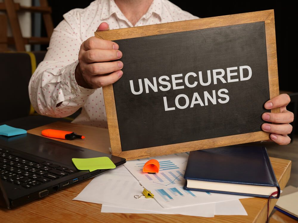 What are unsecured loans?