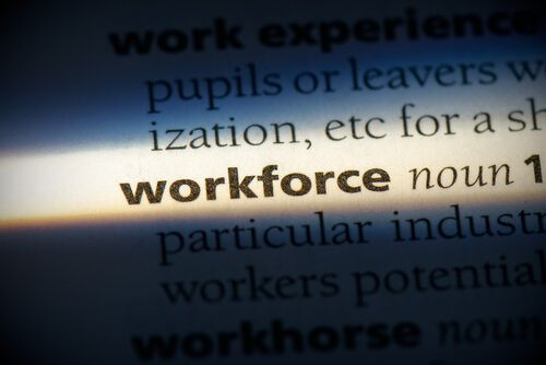 workforce word in a dictionary