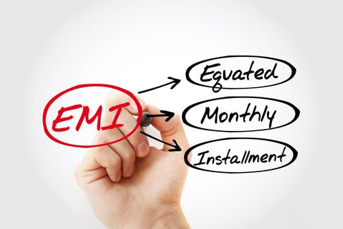 Equated Monthly Installment acronym with marker