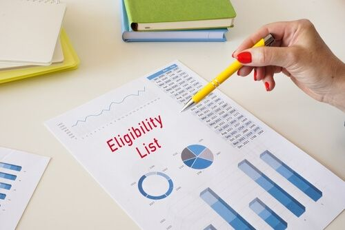 Eligibility List with phrase on the page