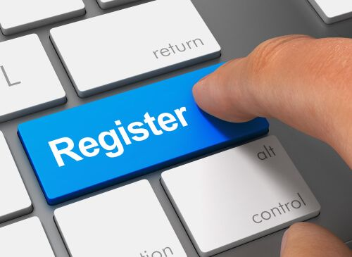 register pushing keyboard with finger