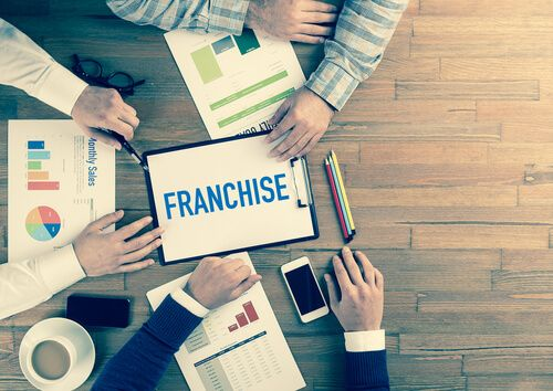 Business Team Concept working together on franchise
